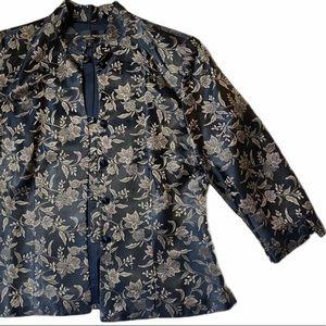 Vintage Brocade Donna Ricco Suit Jacket Blazer